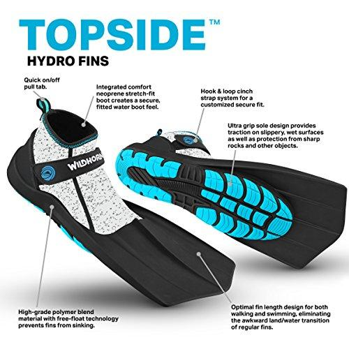 WildHorn-Outfitters-Topside-Fins-Compact-Snorkeling-Flippers thumbnail 11
