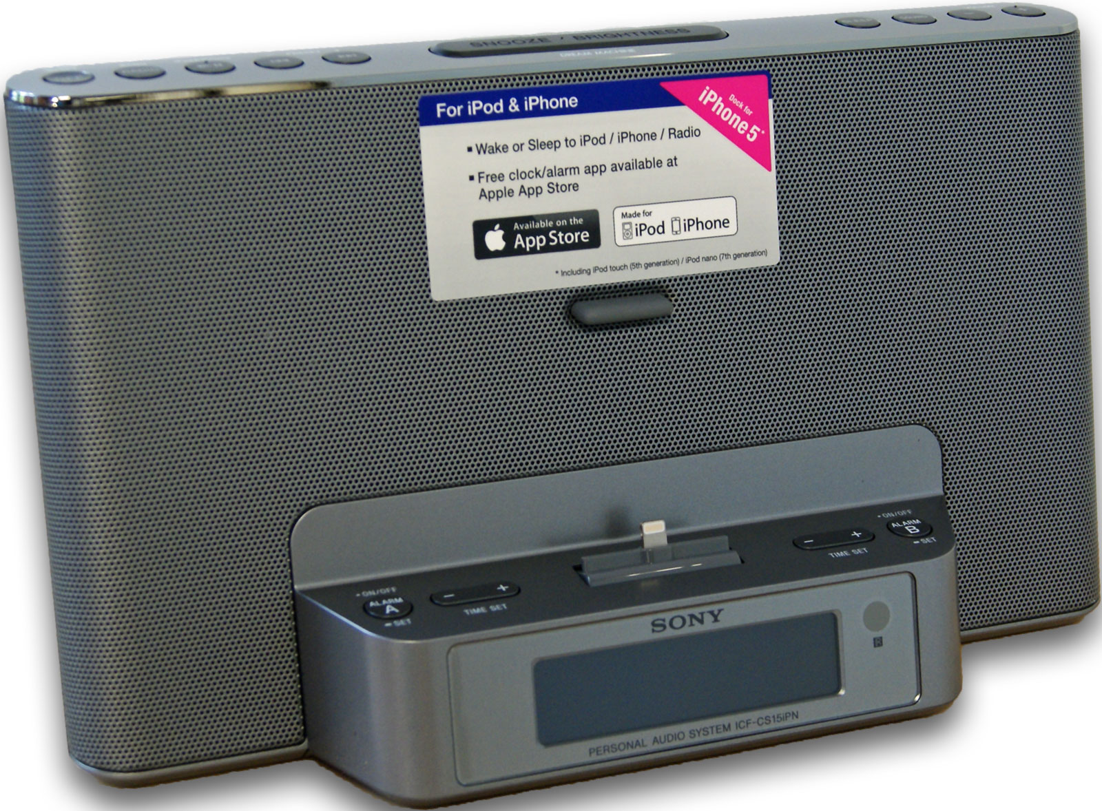 Sony icf cs15ipn iphone ipod clock radio dock with for Icf pricing