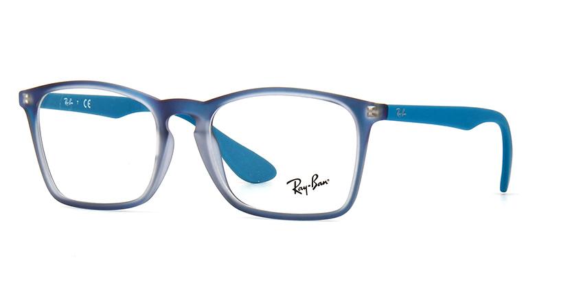 78d5e3cb47 Ray-Ban Chris Optics RB7045 5484 Iridescent Blue 53  18 140 Frames ...